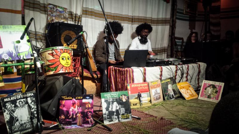 DJs at Fendika in Addis Ababa, Ethiopia. Photo by Steve Paulson